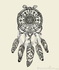 dreamcatcher-tiré-par-la-main-avec-des-plumes-modèles-ethniques-d-amulette-indienne-de-vintage-78222770.jpg